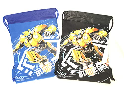 Transformers Bumble Bee Drawstring Backpack Sling Tote School