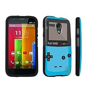 DuroCase ? Motorola Moto G 2013 1st Gen. Hard Case Black - (Gameboy Blue)