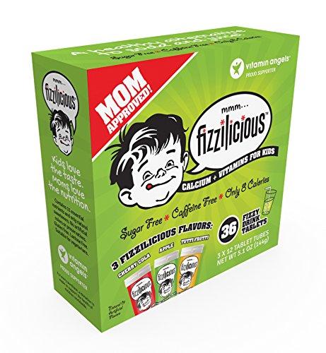 Fizzilicious Calcium + Vitamins for Kids (Strawberry, Apple, Tutti - Apple Vitamins Strawberry