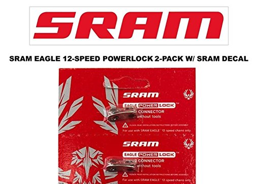 SRAM Eagle PowerLock Chain Connector 12-speed Chain Link w DECAL - Available in 2-PACK and 4-PACK (2) -
