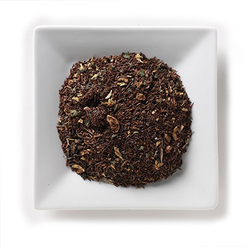 Mahamosa Rooibos Herbal Tea Blend Loose Leaf (Looseleaf) - Pumpkin Cream 2 oz, Dessert Tea Pumpkin Blossom Honey