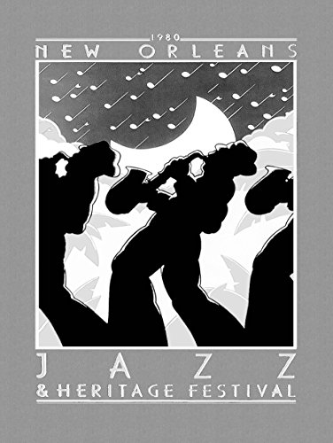 MUSIC CONCERT ADVERT JAZZ HERITAGE FESTIVAL 1980 NEW ORLEANS USA 30x40 cms ART POSTER PRINT PICTURE (Jazz Festival Poster Card)