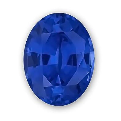 Amazon com: 12x10mm Oval Gem Quality Chatham Lab-Grown Blue
