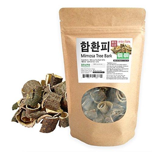 [Medicinal Korean Herb] Albizziae Cortex (Mimosa Tree Bark/Hehuanpi / 합환피) Dried Bulk Herbs 4oz ()