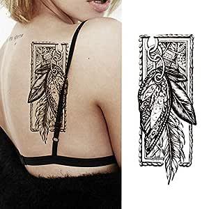 adgkitb 3 Piezas Pieza Tatuaje Temporal Pegatina Rosas Negras ...