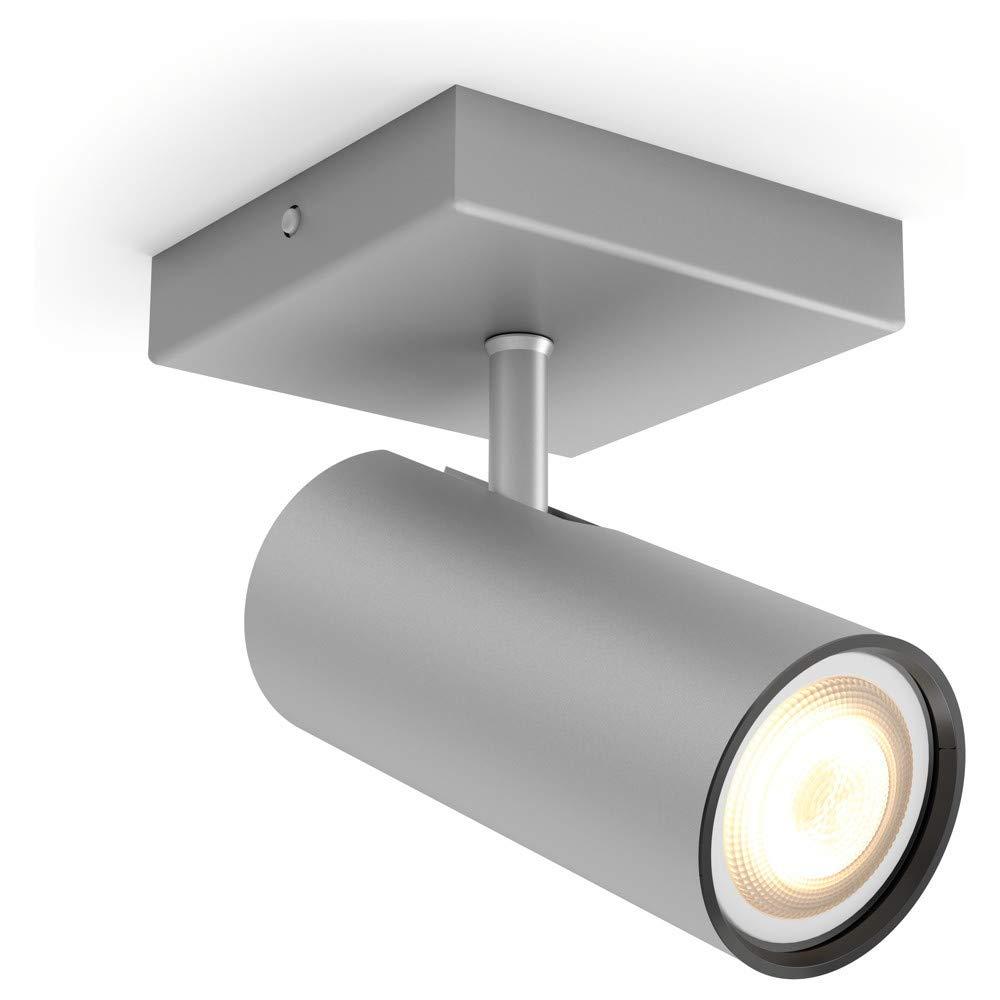 PHILIPS HUE Weiß Ambiance Buratto 1-er LED Deckenleuchte    Erweiterung    Silber   inkl. Leuchtmittel   AMAZON ECHO & APPLE HOMEKIT   GU10   IP20   LED Deckenlampe   Wohnzimmerlampe 16d67b