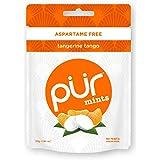 PUR 100% Xylitol Mints, Sugarless Tangerine Tango, Sugar Free + Aspartame Free + Gluten Free + Vegan - Freshens Breath, Low C