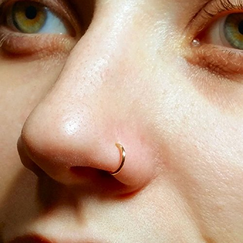 Faux Clip-On Nose Ring 20g - 14k Gold Filled - No Piercing Needed
