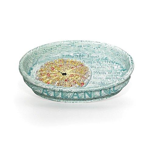 (Popular Bath Soap Dish, Atlantic Collection, Aqua)