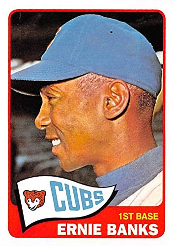 2010 Topps Hall Of Fame - Ernie Banks baseball card (Chicago Cubs Hall of Fame) 2010 Topps #CMT130 1965 Retro Reprint