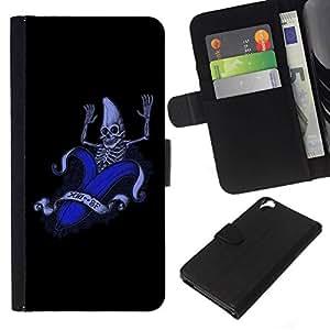 All Phone Most Case / Oferta Especial Cáscara Funda de cuero Monedero Cubierta de proteccion Caso / Wallet Case for HTC Desire 820 // Funny Banana Skeleton