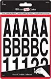 The Hillman Group 847004 Die-Cut Letters/Numbers Kit, Black, 2-Inch