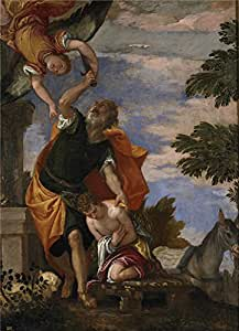 high quality polyster Canvas ,the Replica Art DecorativePrints on Canvas of oil painting 'Veronese Paolo The Sacrifice of Isaac Ca. 1586 ', 10 x 14 inch / 25 x 35 cm is best for Gym gallery art and Home decoration and Gifts