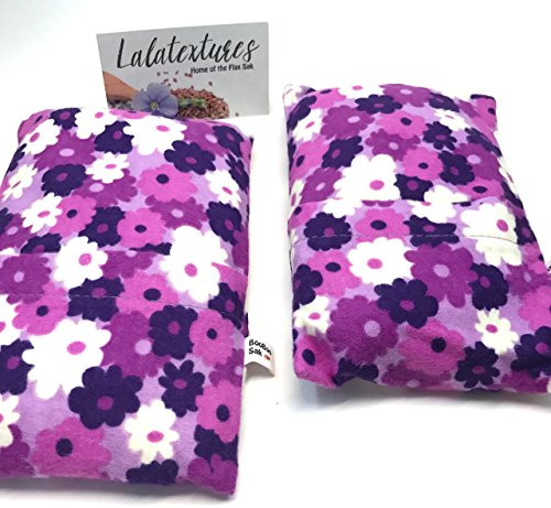 [Two Lavender Microwave Heating Bags, BooBoo Saks, Purple Flowers. Great for bedtime soothers or huggers. Removable/Washable Covers. Great Gift For Baby Showers, Girls, or Boys.] (Heart New Elephant)