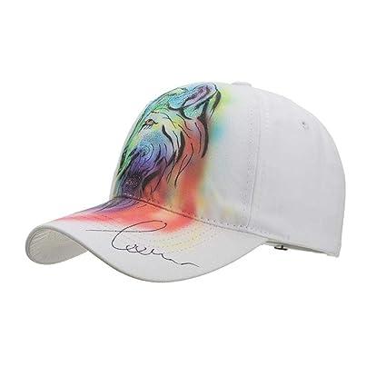 Unpara Men Women Glitter 3D Animal Printed Cap Shade Gorras Tactical Baseball Ponytail Hat Adjustable Size