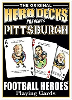 product image for Parody Productions Football Heroes Playing Cards - Pittsburgh