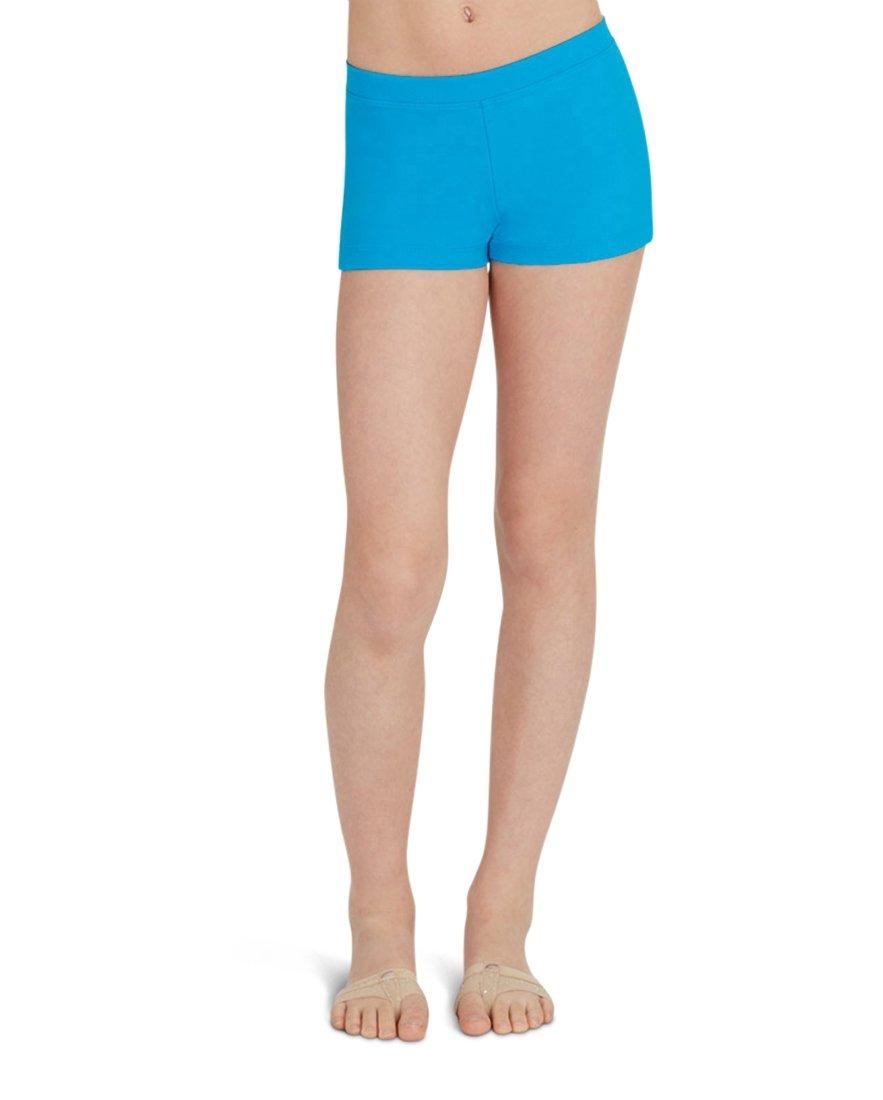 Capezio Girl's Capezio Boy Cut Low Rise Shorts Turquiose M M US