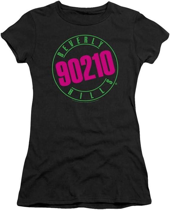 Beverly Hills 90210 Neon 80s Retro CBS TV Show Juniors Babydoll T-Shirt Tee