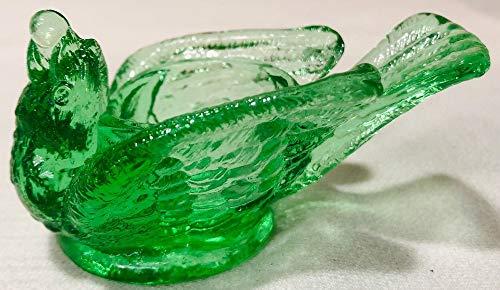 Salt Cellar/Dip - Open Bird - Glass (Depression Green)