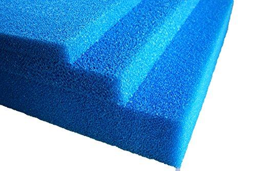 Teich - Filterschaum / Filtermatte blau 100 x 100 x 5 cm mittel PPI20