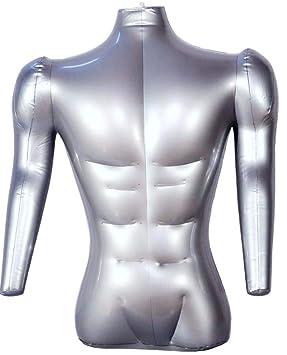 Maniquí hinchable de medio cuerpo con brazos, camiseta de ...
