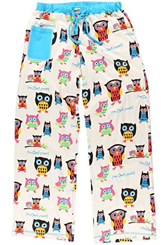 LazyOne Women's Fitted Pajama Sets | Animal Pajamas for Women + XS - XL (X-Small, Pinch Me I'm Dreaming Shirt) (Large, Owl Yours Pants) (Owl Yours Pajamas)