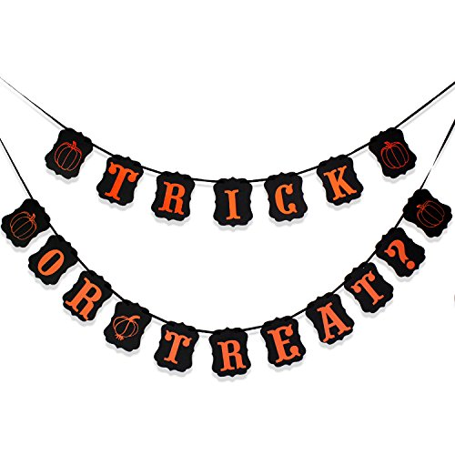 OCR Vintage Banner Halloween Decoration for Party Door Fireplace Garlands Flags TRICK OR TREAT
