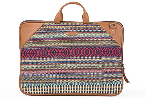 Laptop Bag Red Durrie by October Jaipur
