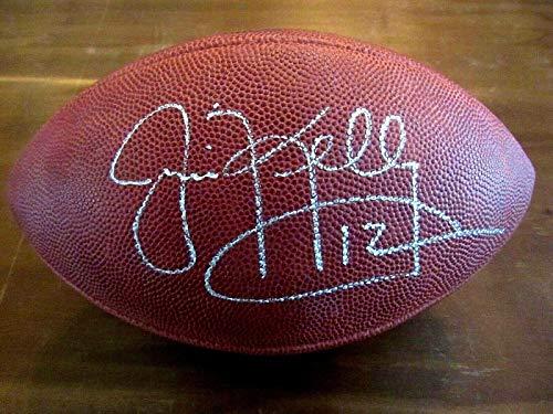Signed Jim Kelly Football - Superbowl Xxvi Sb Duke - PSA/DNA Certified - Autographed Footballs