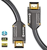 4K HDMI Cable/HDMI Cord 33ft - Ultra HD 4K Ready HDMI 2.0 (4K@60Hz 4:4:4) - High Speed 18Gbps - 26AWG Braided Cord-Ethernet /3D / ARC/CEC / HDCP 2.2 / CL3 - Xbox PS4 PC HDTV by Farstrider