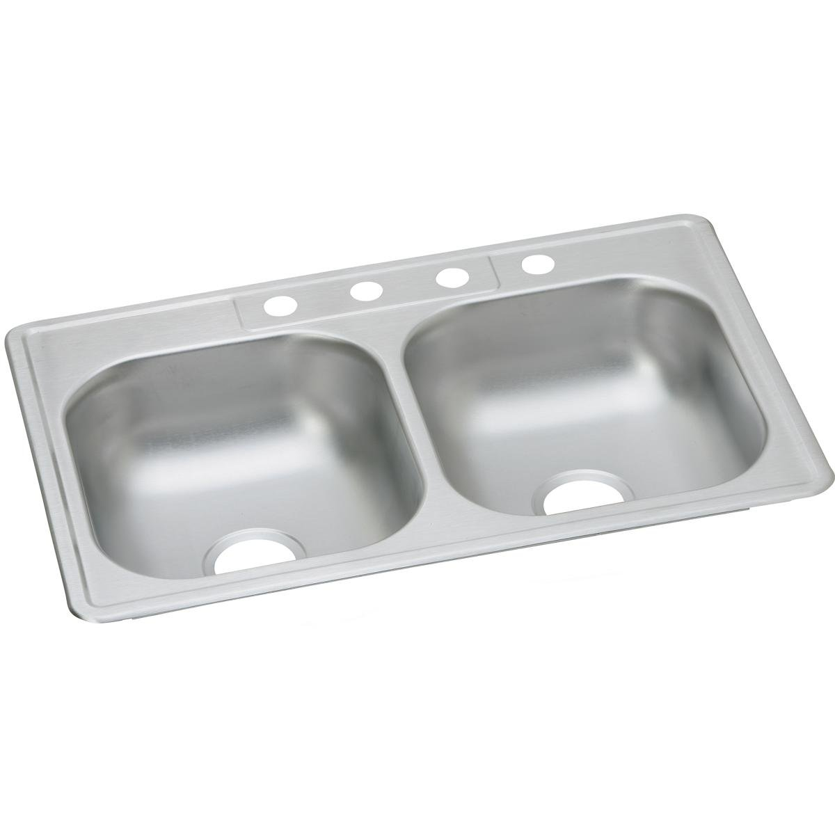 Dayton D233213 Equal Double Bowl Top Mount Stainless Steel Sink by Elkay