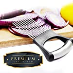 Culinerro - The Best Onion Holder for Slicing All-In-One | Potato holder | Onion Cutter | Onion Chopper Stainless Steel 9 ✅ SUPER QUALITY - Our onion holder is made of high -quality materials. You can be sure that you are choosing an excellent product. ✅ EASY TO USE - The stainless-steel tines make it easy to chop onions with a knife ✅ COMFORTABLE HANDLE - A comfortable handle makes using this product pleasant for both left- and right-handed people.