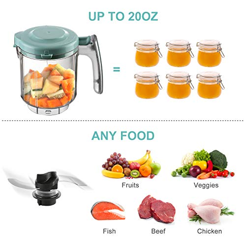 51QTT0OH8QL - Maxkare Baby Food Maker 8 In 1 Meal Station For Toddlers With Steam,Blend,Juice,Warm,Puree,Chop,Disinfect,Clean Function, 20 Oz Tritan Stirring Cup,Built In Timer,Steam Cooker And Blender Processor