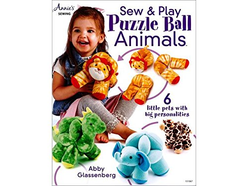 Annies Sew & Play Puzzle Ball Animals Bk by Annies