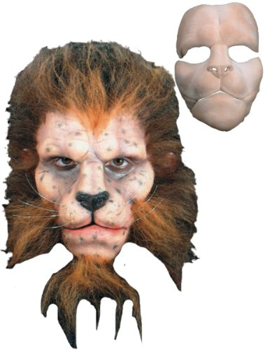 Costume Makeup: Prosthetic- Lion Full Face - Product Description - Foam Latex Prosthetics Are Made Of A Soft Spongy Latex Material That Closely Imitates The Look And Feel Of Skin. The Piece Is Adhered -