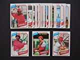 St Louis Cardinals 1980 Topps Team Set (29 Cards)** Bernie Carbo, John Denny, Bob Forsch, Roger Freed, John Fulgham, George Hendrick, Keith Hernandez, Dane Iorg, Terry Kennedy, Darold Knowles, Mark Littell, Silvio Martinez, Will McEnaney, Jerry Mumphrey, Ken Oberkfell, Mike Phillips, Ken Reitz, Buddy Schultz, Tony Scott, Ted Simmons, Steve Swisher, Bob Sykes, Garry Templeton, Garry Templeton Highlights, Roy Thomas, Mike Tyson and Pete Vuckovich**