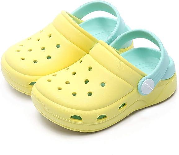 Nasogetch Zuecos Niños Niñas Clogs Zapatillas Zapatos de jardín Mulas Sandalias Verano Piscina Antideslizante y cómodo: Amazon.es: Zapatos y complementos