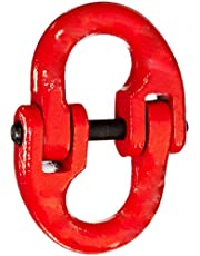 """Indusco 54400012 Painted Grade 80 Drop Forged Alloy Steel Connecting Link, 1/2"""" Trade, 12000 lbs Working Load Limit"""