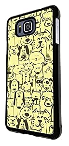 432 - Cute Multi Cats & Multi Dogs Design For Samsung Galaxy Alpha Fashion Trend CASE Back COVER Plastic&Thin Metal