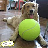 "Banfeng Giant 9.5"" Dog Tennis Ball Large Pet Toys Funny Outdoor Sports Dog Ball Gift with Inflating Needles"