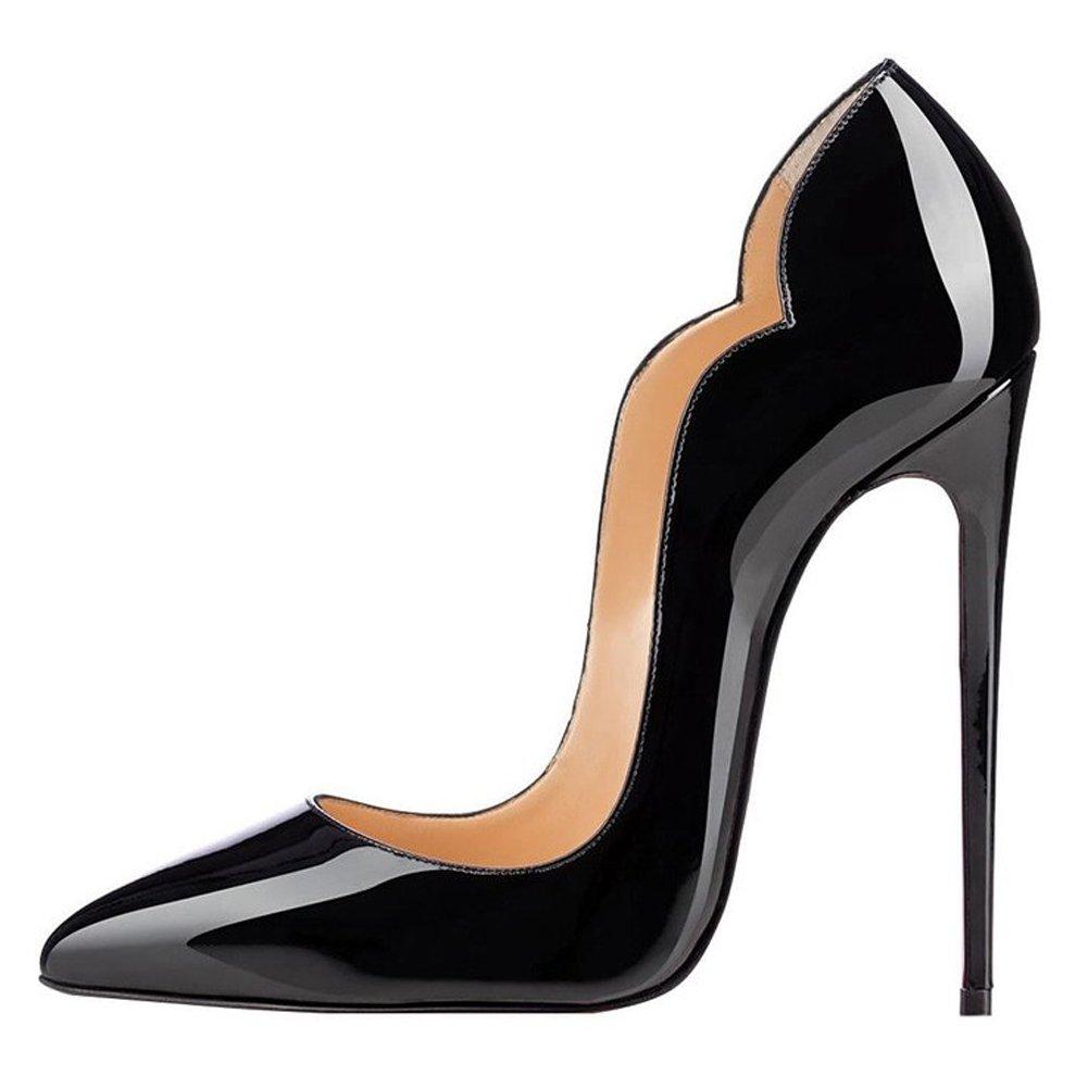 EKS - Zapatos de Tacón Mujer 39 EU negro
