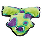 Cheap Outward Hound Invincibles Frog Dog Toy (6 Squeak) (Green/Purple)