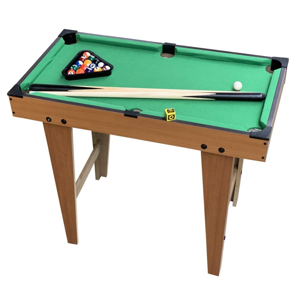 Pool Table by Billiard Family Table Sport Game Tabletop Pool Set Billiards Game Set Includes Game Balls (Color : Green, Size : 60x69x37cm) by TAESOUW-Sports
