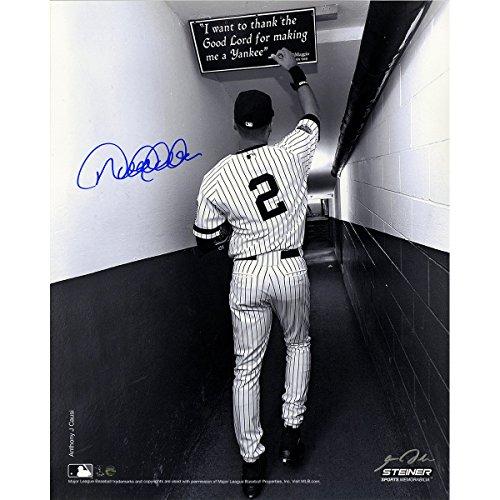 Derek Jeter Signed B&W Shot In Tunnel At The Original Yankee Stadium Vertical 16x20 Photo (Signed By Photographer Anthony Causi) (Photograph Stadium Yankee 16x20)