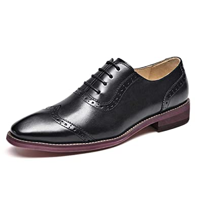Amazon.com | Beau Today Women's Chic Oxfords Brogue Wingtip Lacep Oxfords Shoes | Oxfords