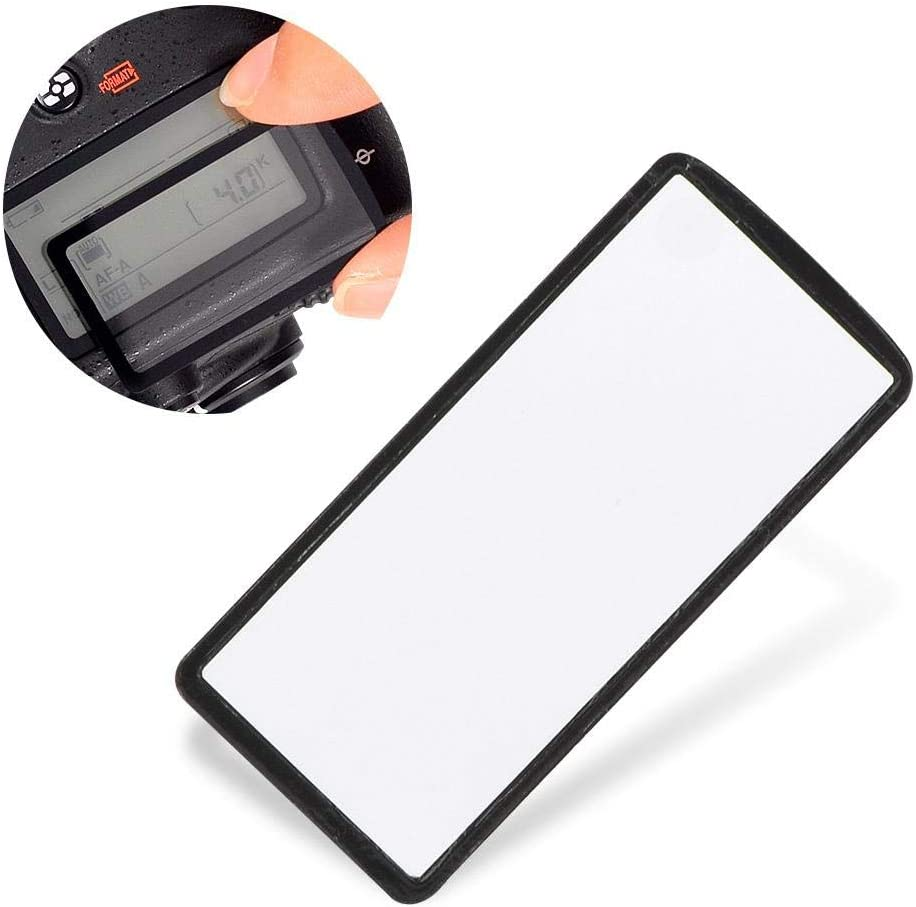 Camera Top Screen Cover,Acrylic Camera Top Outer LCD Display Window Glass Protector Cover Fit for Nikon D750 D7500