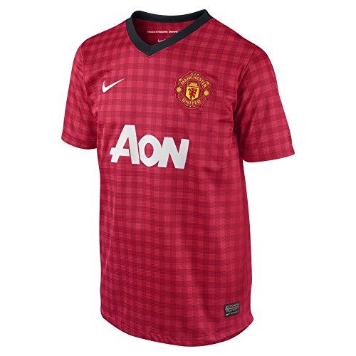 孤児ミュートメンバーNike Manchester United Home Jersey 2012-13 Youth/サッカーユニフォーム マンチェスター?ユナイテッド ホーム用 背番号なし ジュニア向け