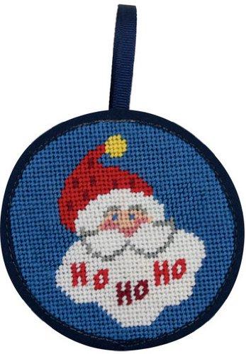Needlepoint Kit Ho Ho Ho Santa Christmas Ornament