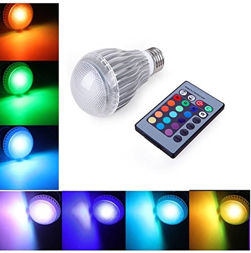 Superdream 10W Dimmable LED RGB Magic Lamp Light Bulb, 16 Color Changing Spotlight with Remote Control, for KTV Restaurant Coffee House