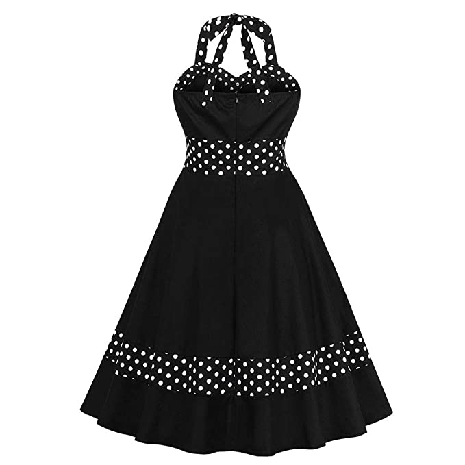 Amazon.com: Sharemen Vintage Polka Dot Retro Cocktail Prom ...